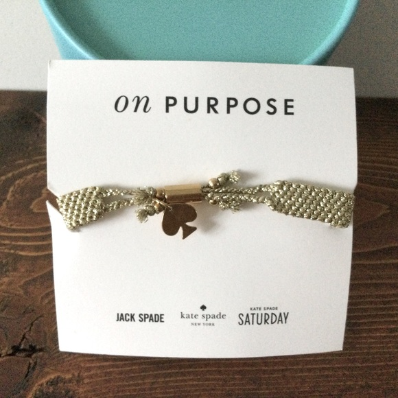 Kate Spade On Purpose Gold Bracelette